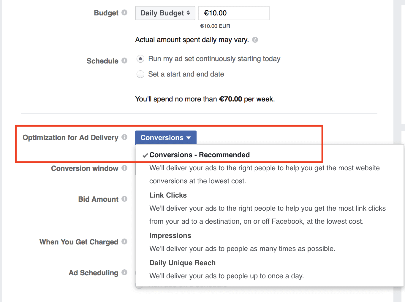 Optimization-for Ad Delivery Facebook Ads Explained