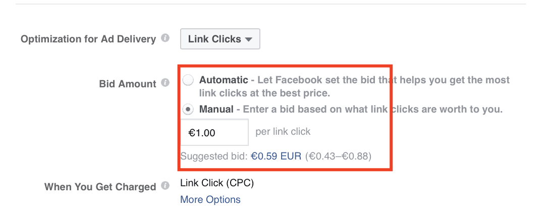 Manual Automatic Bidding on Facebook Advertising 2020
